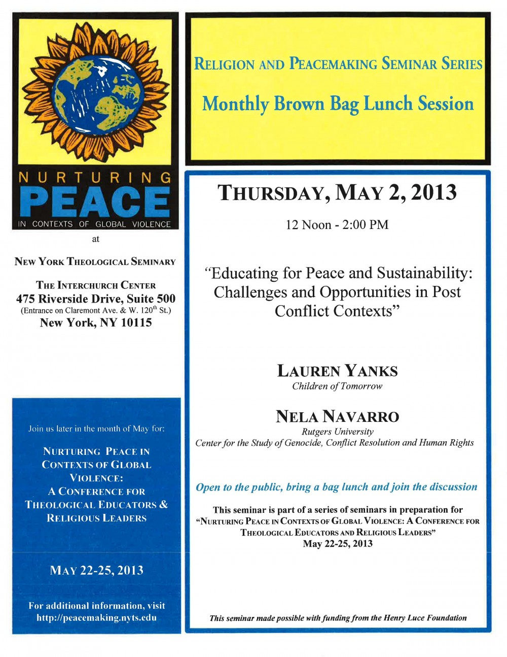 PEACECONFERENCE SEMINAR FLYER_ May 2(1)